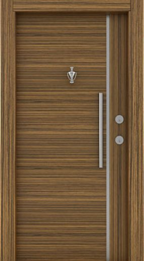Zebrano steel door