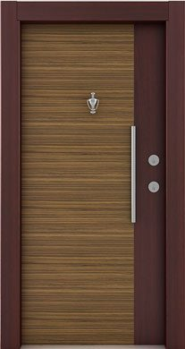 Laminate-steel-door mahogany zebrano