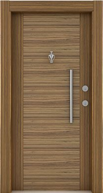 Laminate-steel-door zebrano sambesi